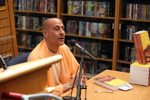 Radhanath Swami At a Bookstore in US