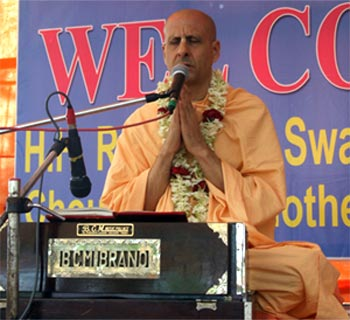 Radhanath Swami Giving a Discourse