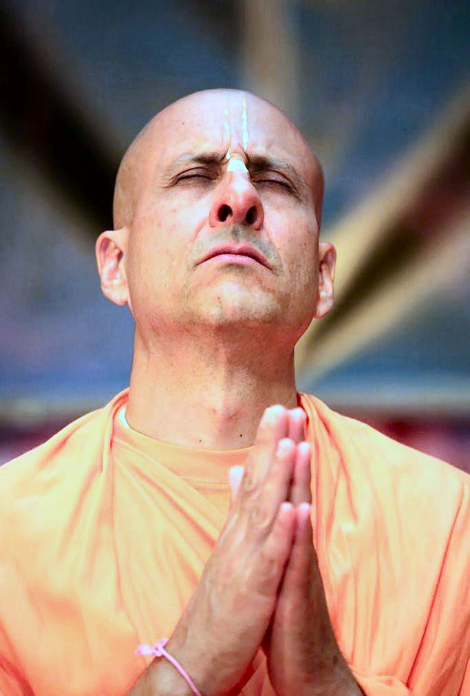 Radhanath Swami Praying