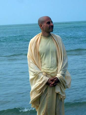 Radhanath Swami At Beach