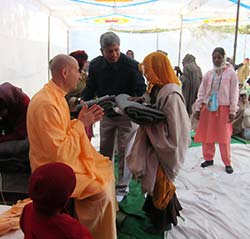 Radhanath Swami at Barsana Eye Camp