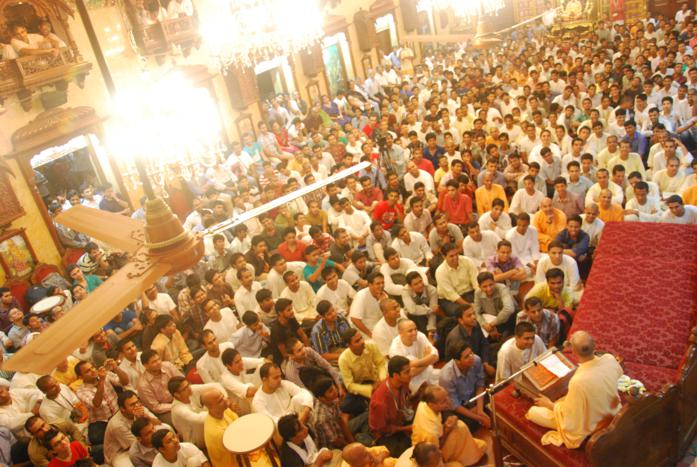Talk by HH Radhanath Swami during 111 Prerana
